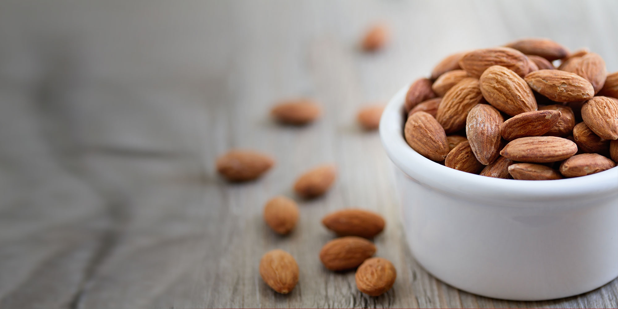 Healthy and nutritious cup of almonds